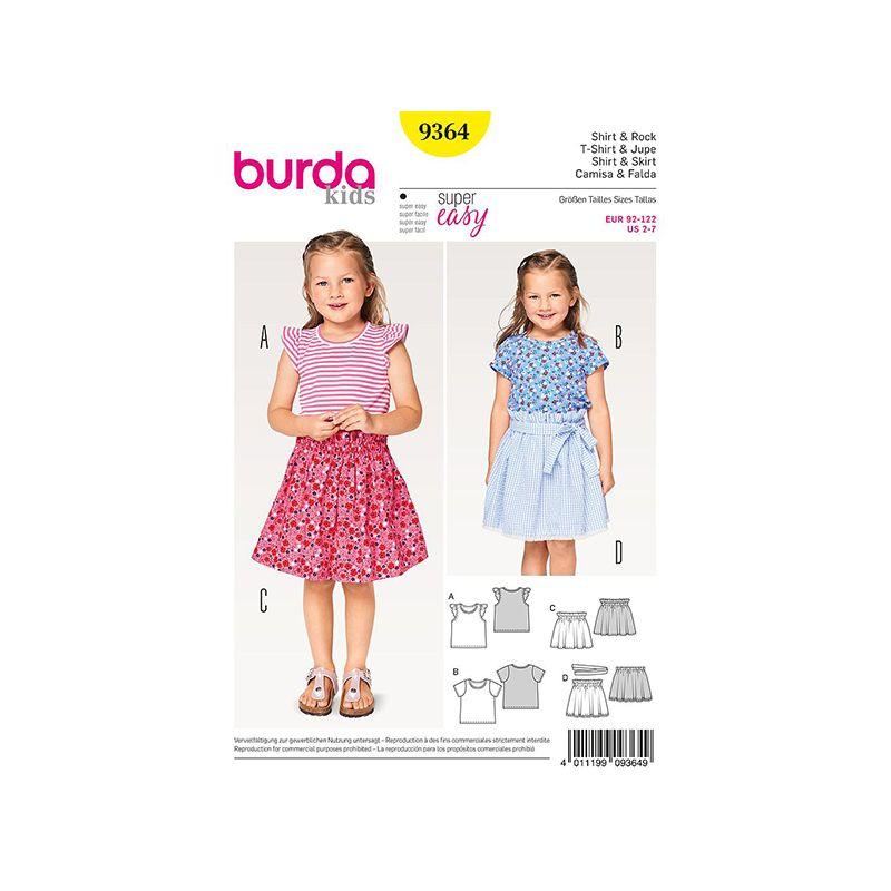 Patron Burda Kids 9364 Tshirt et Jupe