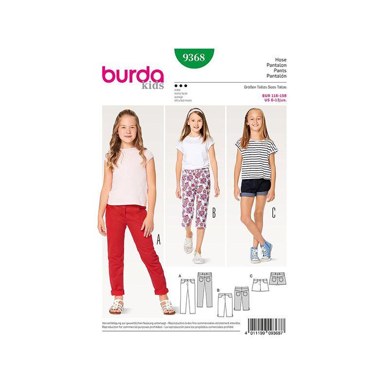 Patron Burda Kids 9368 Pantalon