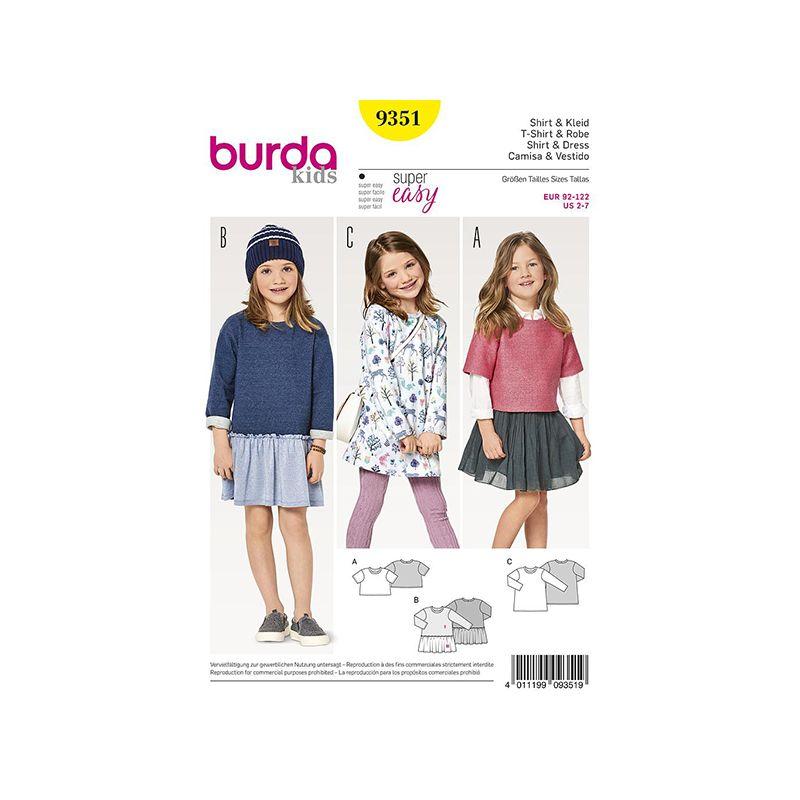 Patron Burda Kids 9351 Tshirt et Robe