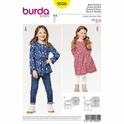 Patron Burda Kids 9350 Blouse Robe
