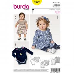 Patron Burda Kids 9347 Ensemble Robe Body