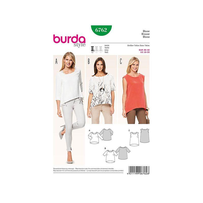 Patron Burda Style 6762 Blouse 36/46