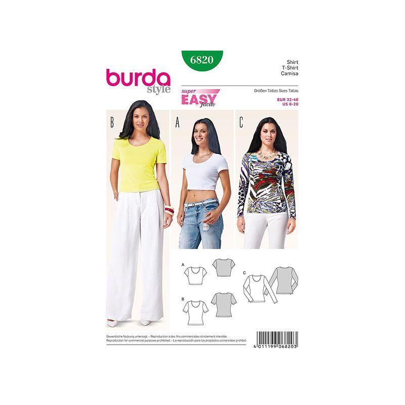 Patron Burda Style 6820 T Shirt 32/46