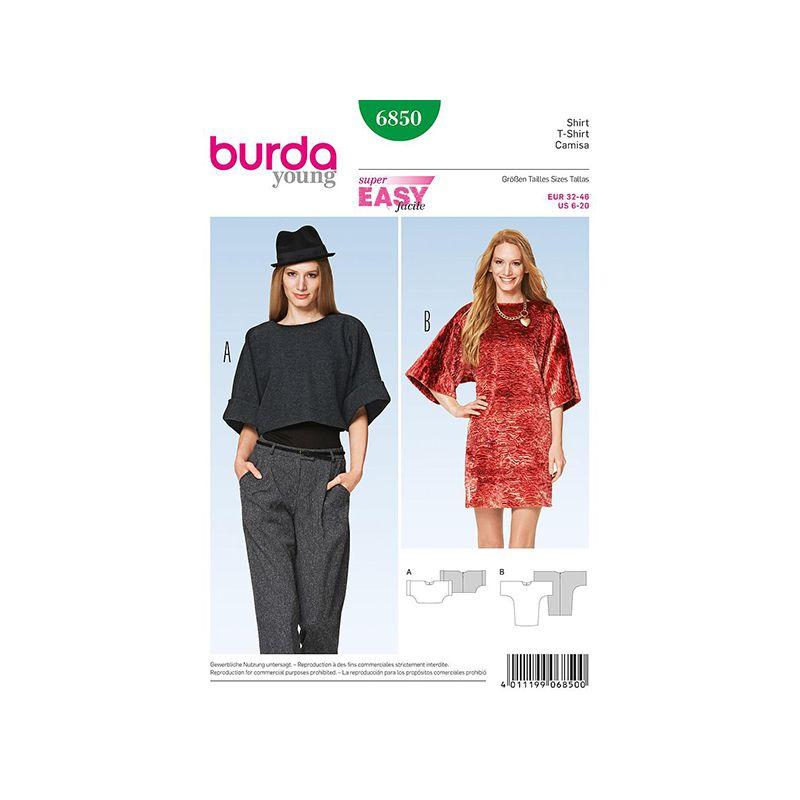 Patron Burda Style 6850 T Shirt 32/46