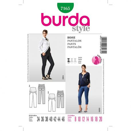 Patron Burda Future Maman 7165 Pantalon 34/46