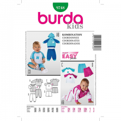 Patron Burda Kids 9748 Ensemble 68/98