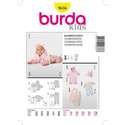 Patron Burda Kids 9636 Chandail Pantalon Grenouillère