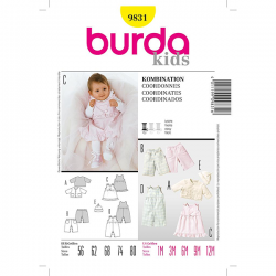 Patron Burda Style 9831 Ensemble 56/80