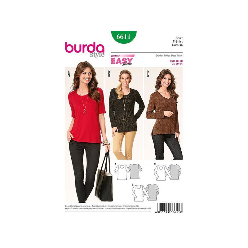 Patron Burda Style 6611 T Shirt 36/50