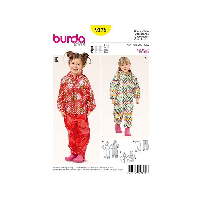 Patron Burda Style 9378 Coordonnées 86/116