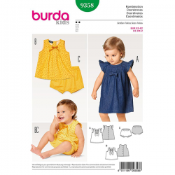 Patron Burda Kids 9358 Ensemble bébé