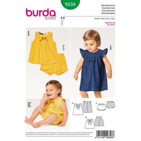 Patron Burda Kids 9358 Ensemble bébé