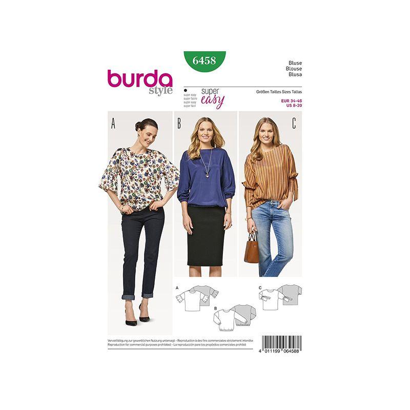 Patron Burda Style 6458 Blouse