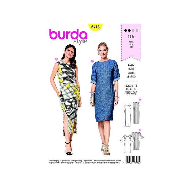 Patron Burda Style 6418 Robe Taille 36/46