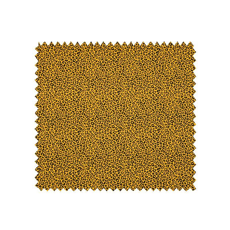 Tissu Jersey Coton Imprimé Léopard Jaune