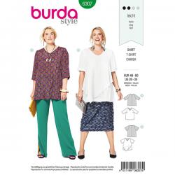 Patron Burda Style 6307 Blouse pour Femmes de 48 à 62