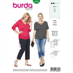 Patron Burda Style 6308 T-shirt pour Femmes de 48 à 58