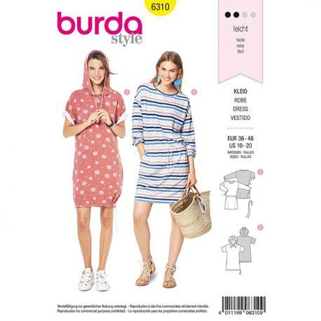 Patron Burda Style 6310 Robe pour Femmes de 38 à 48