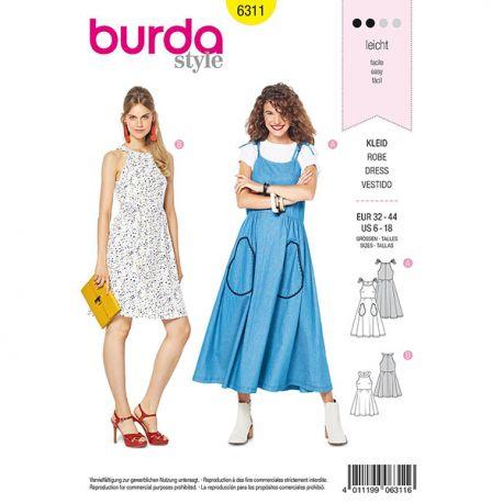 Patron Burda Style 6311 Robe pour Femmes de 34 à 46
