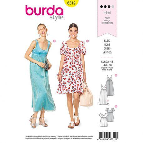 Patron Burda Style 6312 Robe pour Femmes de 34 à 46