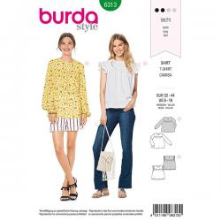 Patron Burda Style 6313 Chemisier pour Femmes de 36 à 46