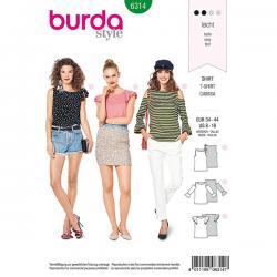 Patron Burda Style 6314 T-shirt pour Femmes de 36 à 46
