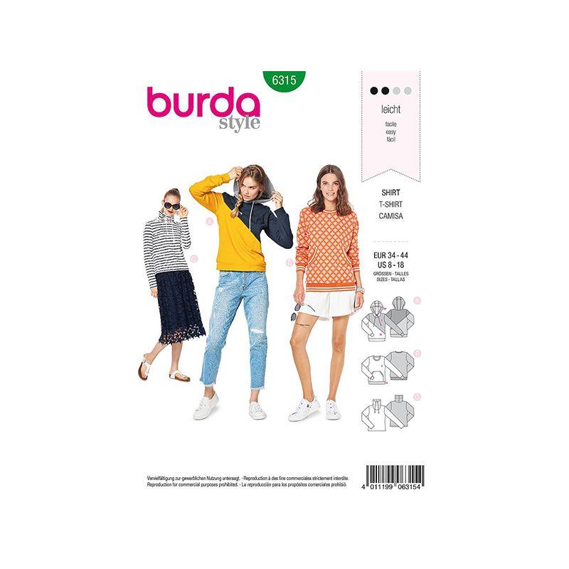 Patron Burda Style 6315 Sweat pour Femmes de 36 à 46