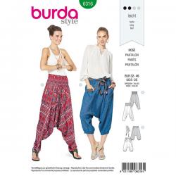 Patron Burda Style 6316 Pantalon pour Femmes de 34 à 48