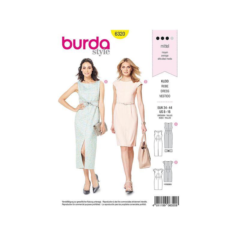 Patron Burda Style 6320 Robe pour Femmes de 36 à 46