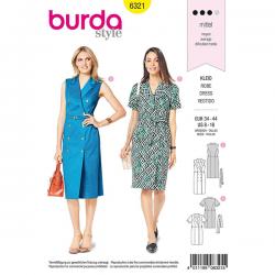 Patron Burda Style 6321 Robe pour Femmes de 36 à 46