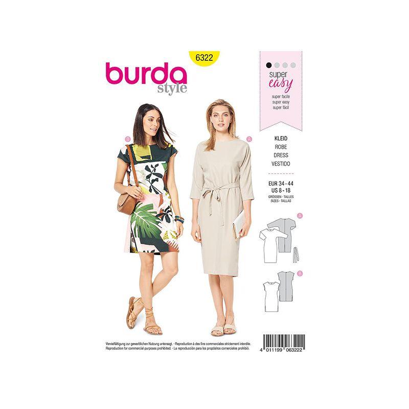 Patron Burda Style 6322 Robe pour Femmes de 36 à 46