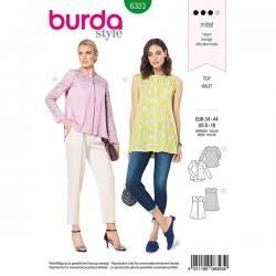 Patron Burda Style 6323 Top et Chemisier pour Femmes de 36 À 46