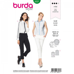 Patron Burda Style 6327 Blouse pour Femmes de 36 à 46