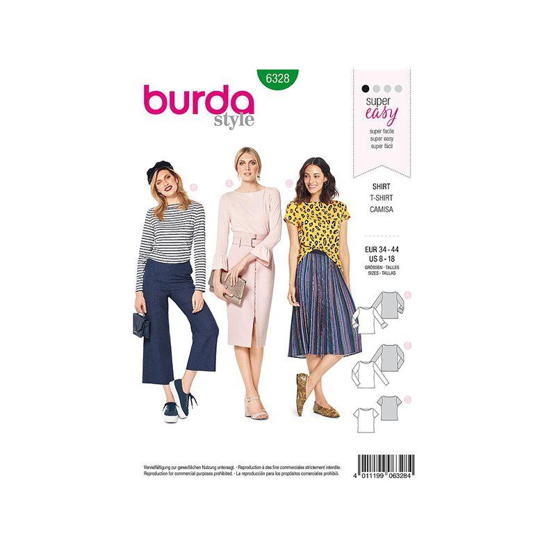 Patron Burda Style 6328 T shirt pour Femmes de 36 à 46