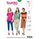 Patron Burda Style 6329 T shirt pour Femmes de 36 à 46