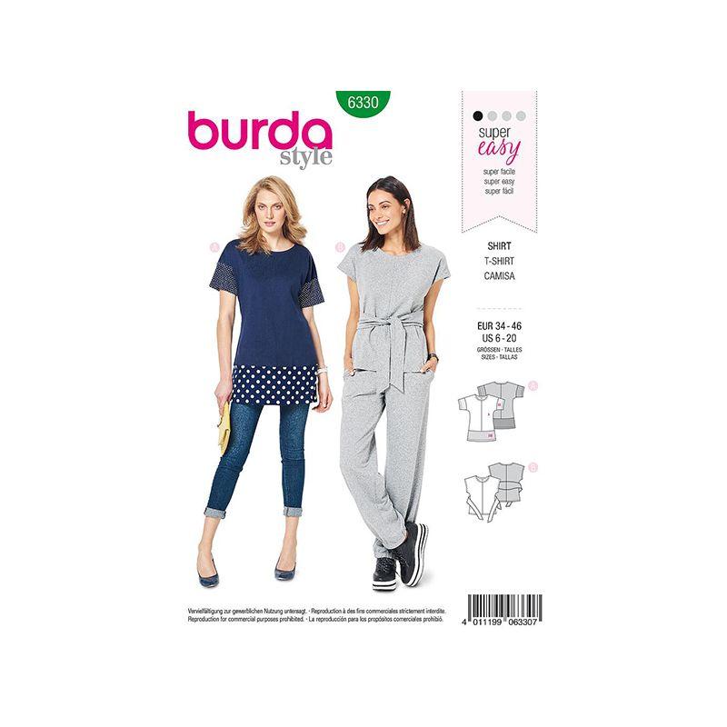 Patron Burda Style 6330 Blouse pour Femmes de 36 à 46