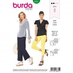 Patron Burda Style 6331Blouse pour Femmes de 36 à 46