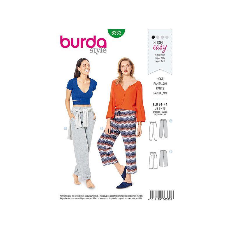Patron Burda Style 6333 Pantalon pour Femmes de 36 à 46