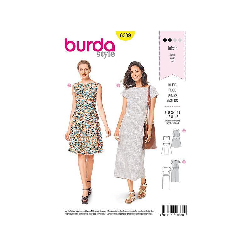 Patron Burda Style 6339 Robe pour Femmes de 36 à 46
