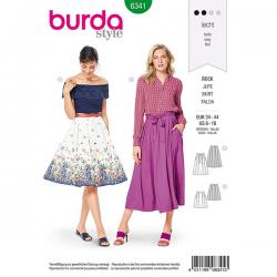 Patron Burda Style 6341 Jupe pour Femmes de 36 à 46