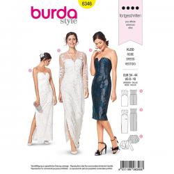 Patron Burda Style 6346 Robe de Mariée de 36 à 46