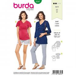 Patron Burda Style 6347 T-shirt pour Femmes Enceintes de 36 à 46
