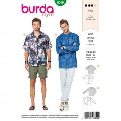 Patron Burda Style 6349 Chemise Hommes de 48 à 62