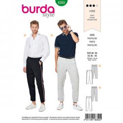 Patron Burda Style 6350 Pantalon pour Hommes de 48 à 48