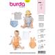 Patron Burda Style 9316 Ensemble pour Bébés de 1 à 18 mois