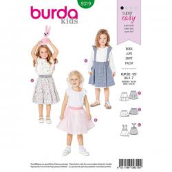 Patron Burda Style 9319 Jupe pour Filles de 2 à 7 ans