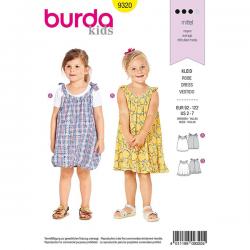 Patron Burda Style 9320 Robes pour Filles de 2 à 7 ans