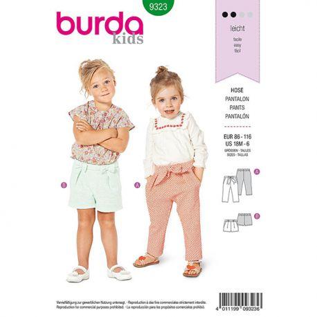 Patron Burda Style 9323 Pantalon pour Filles de 1 à 6 ans