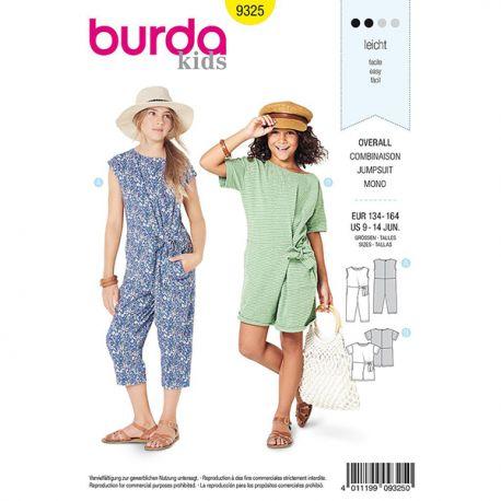 Patron Burda Style 9325 Combinaison pour Filles de 9 à 14 ans