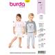 Patron Burda Style 9326 Pyjame pour Enfants de 18 mois à 7 ans